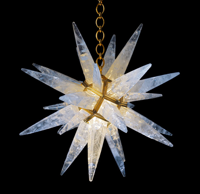 rock Crystal chandelier.Alexandre VOSSION