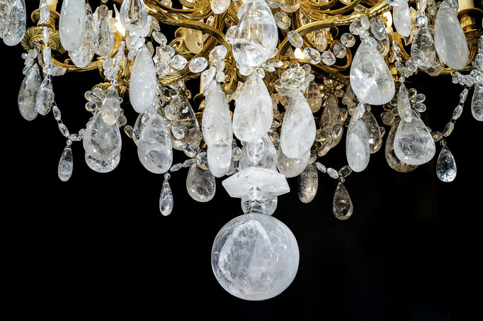 rock Crystal chandelier.Alexandre VOSSION