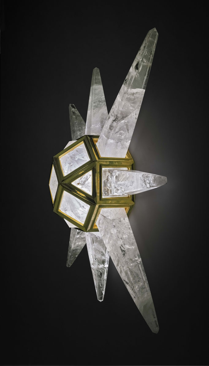 ROCK CRYSTAL WALL LIGHT.ALEXANDRE VOSSION DESIGN