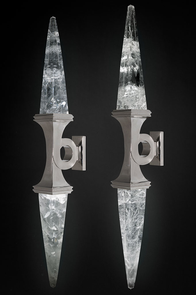 ROCK CRYSTAL WALL SCONCE II SILVER EDITION
