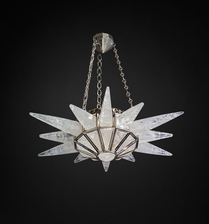 ROCK CRYSTAL SUNSHINE II CHANDELIER  SILVER EDITION