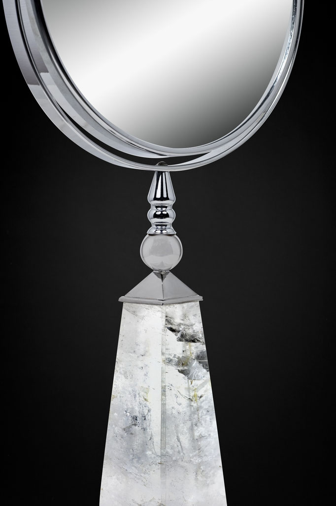 ROCK CRYSTAL MIRROR BY ALEXANDRE VOSSION