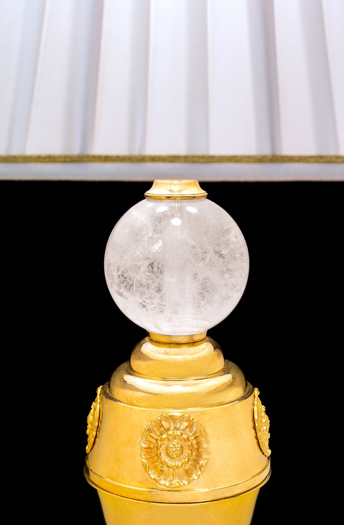 rock crystal lamp .Alexandre VOSSION DESIGN