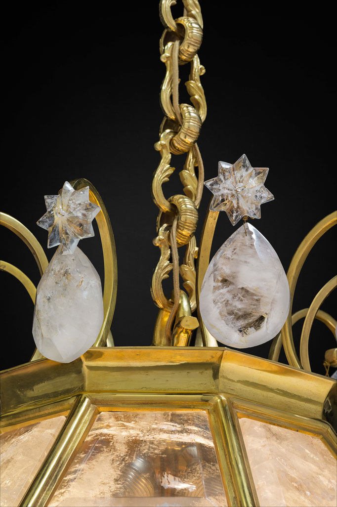 rock Crystal lantern.Alexandre VOSSION DESIGN
