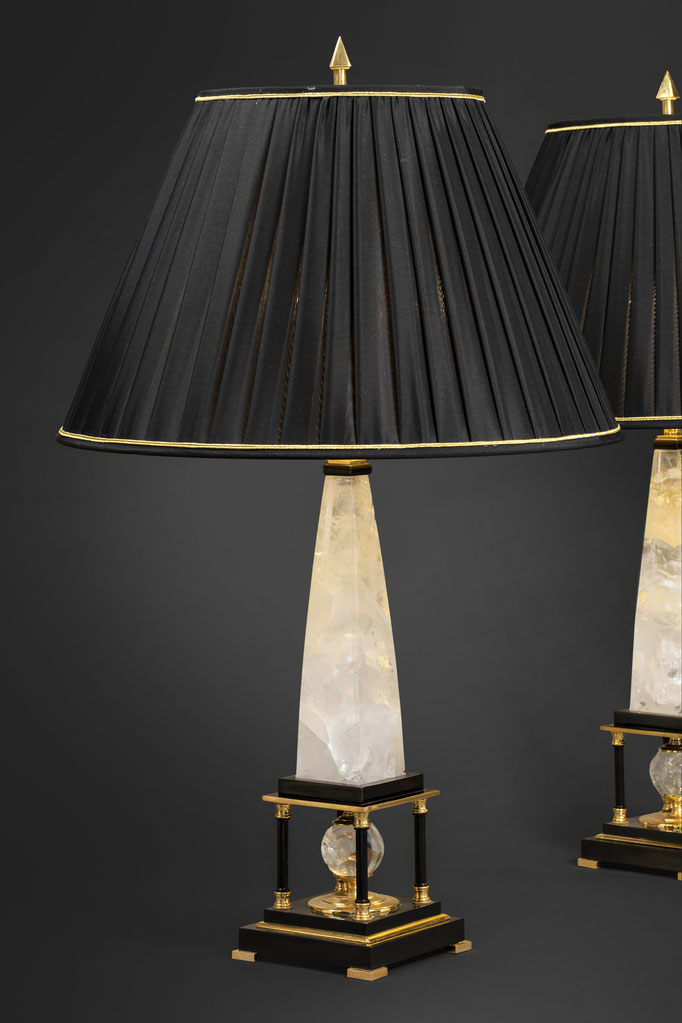 ROCK CRYSTAL LAMPS BY ALEXANDRE VOSSION