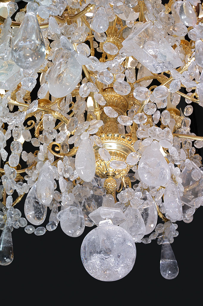 rock crystal chandelier .Alexandre VOSSION