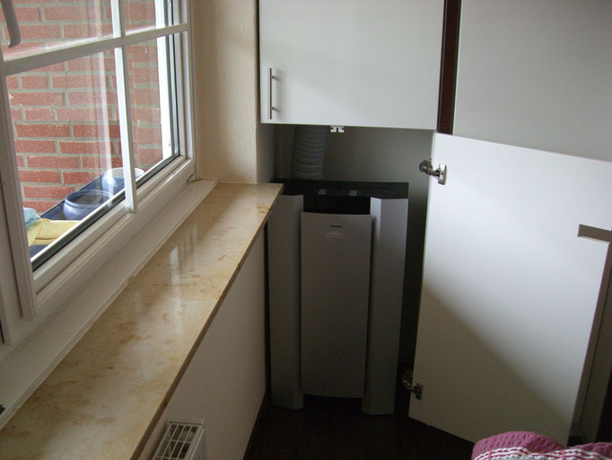 Klimaanlage im Schrank eingebaut
