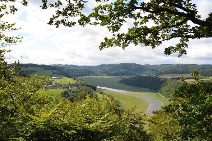 Blick auf Habshausen und Herzhausen