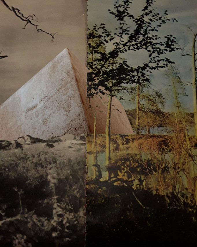 Résurgence, montage photographique mettant en situation le projet pour Traverses 2020.