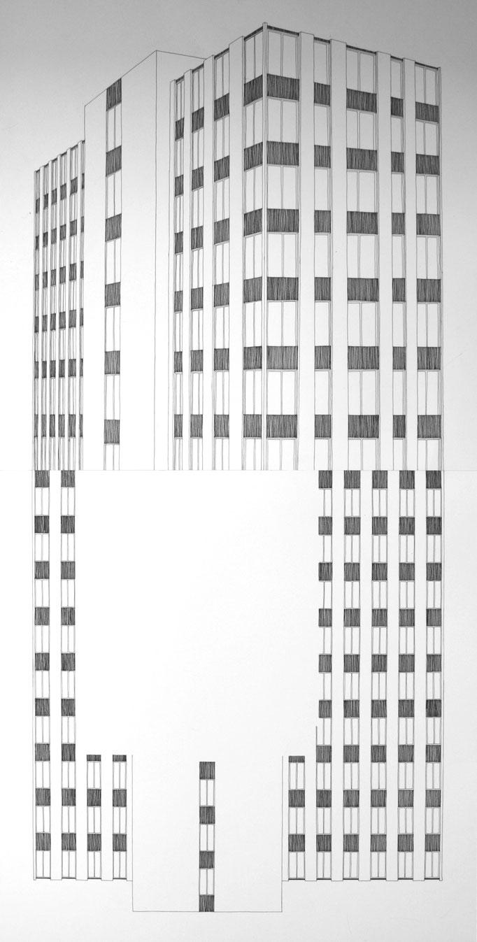 Sans titre, desssin à l'encre, 80x50 cm, 2011.