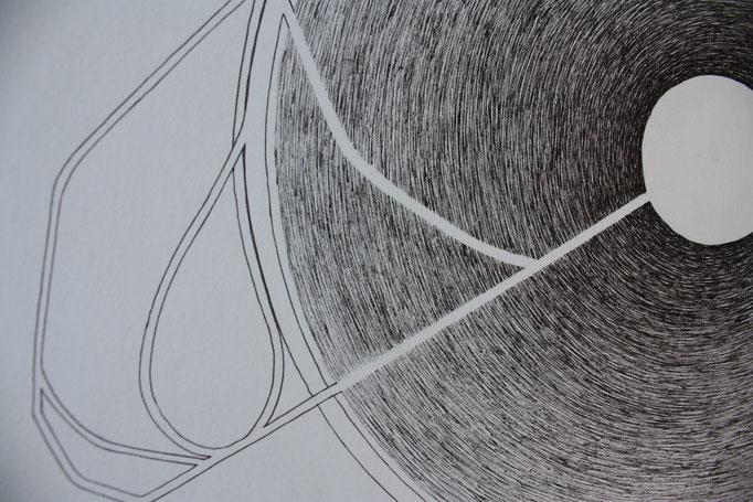 Dessin extrait de Les constellations, 3 dessins à l'encre format 50x75 cm. 2014.