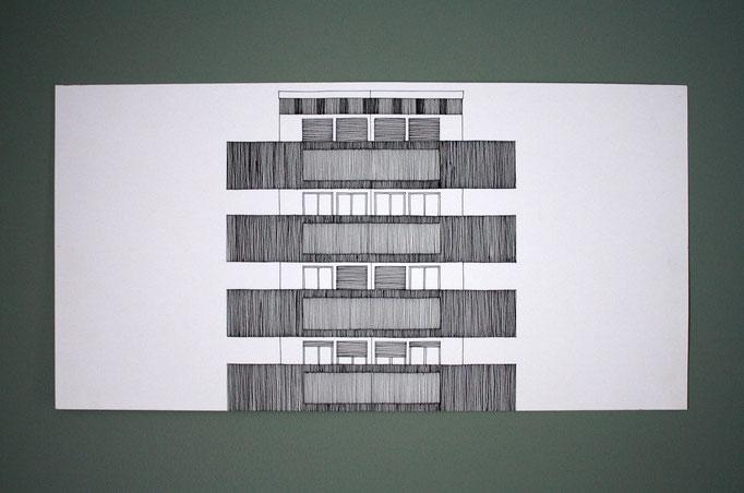Sans titre, dessin à l'encre, 40x25 cm, 2011.