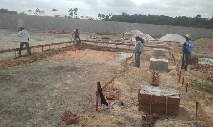 Constructionwork on the base