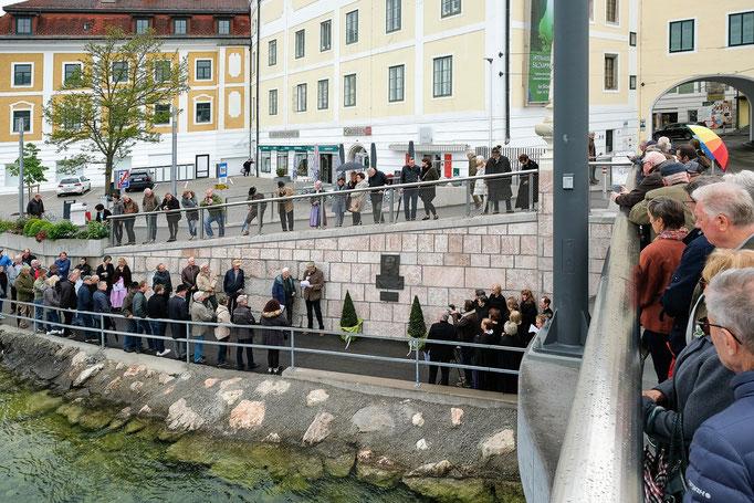 Zahlreich versammelten sich die Gäste zu Ehren von Hans Gebetsroither (Foto: Dr. Wolfgang Ladin)