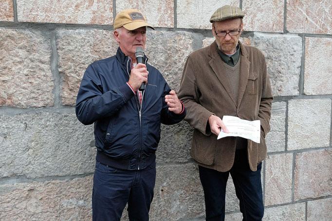Francis Dimofski (Gebetsroither-Club) bei seiner Ansprache (Foto: Helmut Humer)