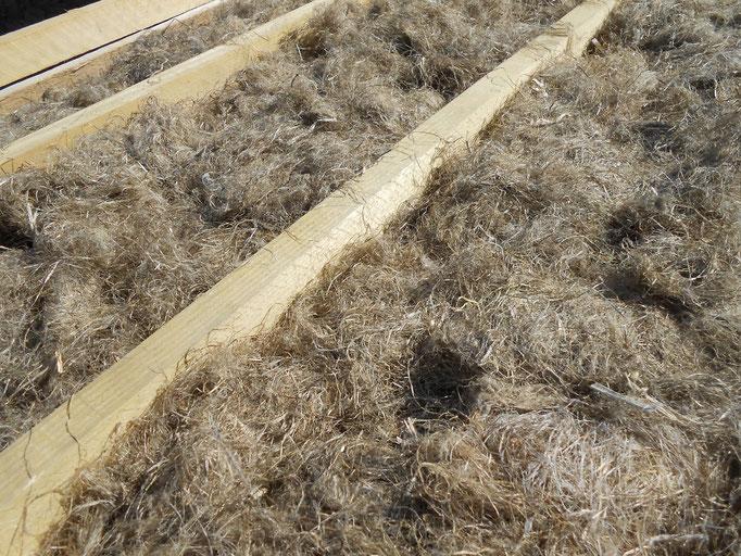 Pose isolation fibre Agrochanvre