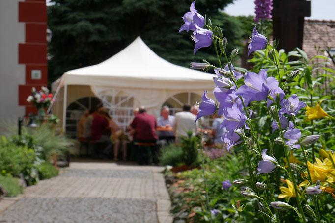 Gemütlicher Ausklang im Kirchgarten
