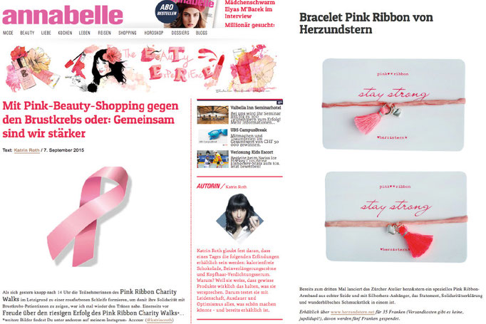 herz&stern - thebeautyexperience, annabelle Blog, September 2015, Pink Ribbon Charity Bracelet