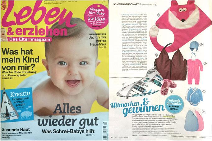 herz&stern - leben&erziehen Mai 2015, Baby-Mokassins