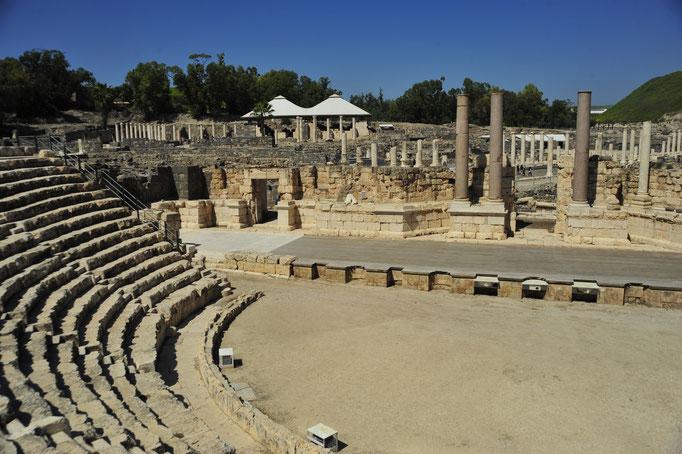 Théâtre de Beth Shean, Israël, vers 200 dné, 10 gradins, 5000 spectateurs