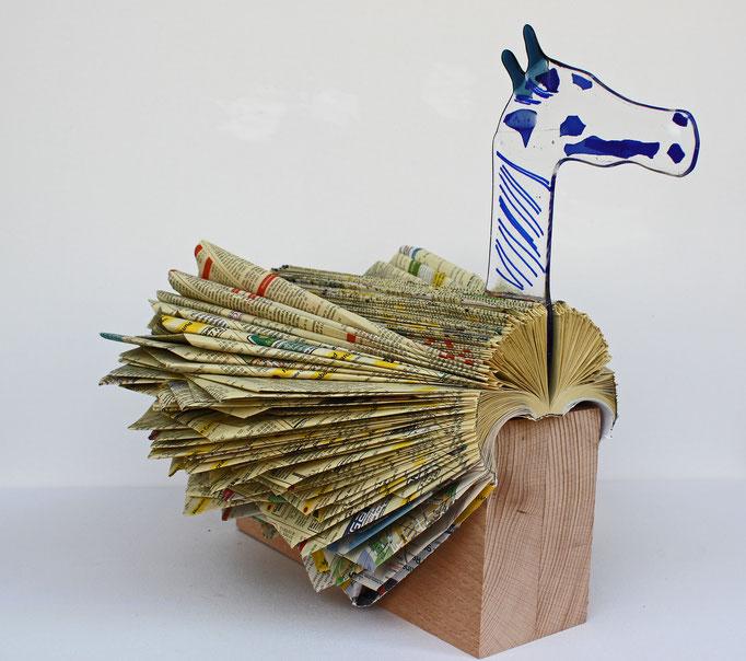 Buchfaltung mit Pferdekopf