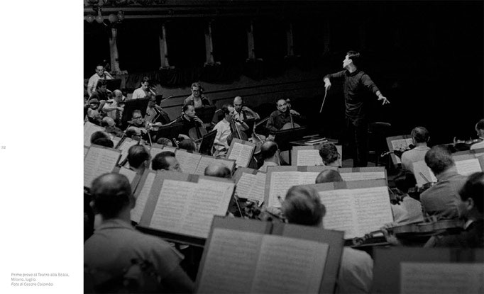 Claudio Abbado's rehearsals for his debut in La Scala theatre in Milan, 1965 © courtesy Contrasto/Cesare Colombo