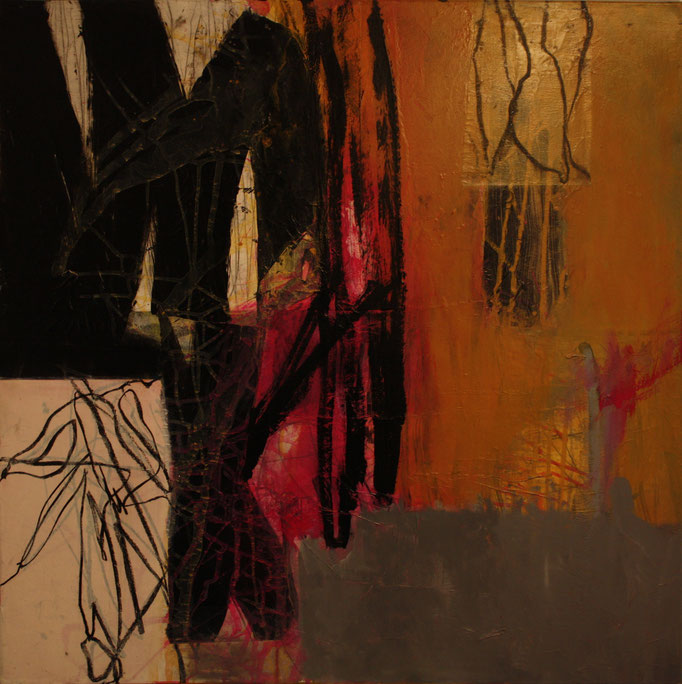 -INSPIRATION- Acryl auf Leinwand mit Collage - 100cmx100cm