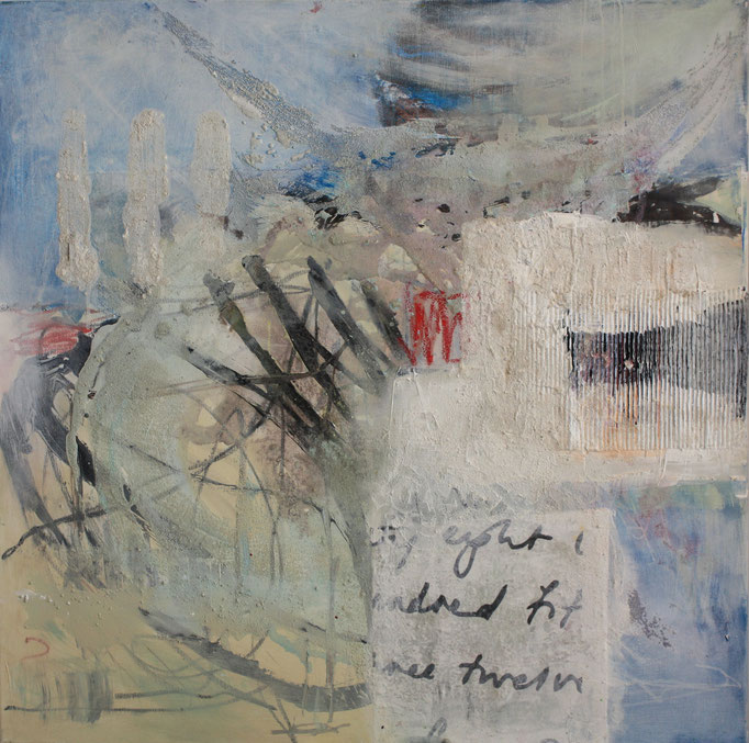 -EIGHT TIMES- Acryl auf Leinwand mit Collage - 100cmx100cm