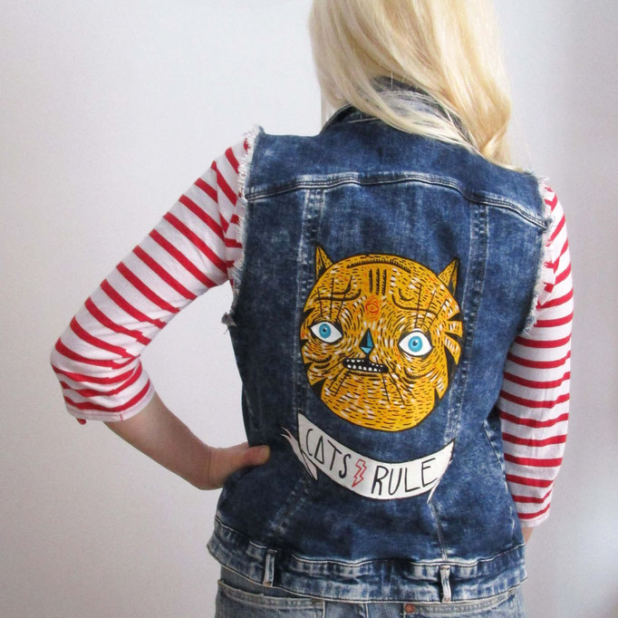 Denim jacket hand painted - personal work :)