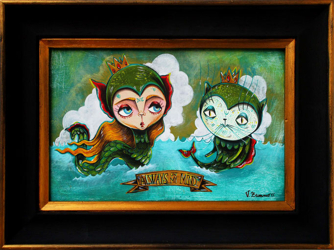 The king of the tides - Acrylic on wood  - 30,5x20 cm - 30x40 cm frame - 2015