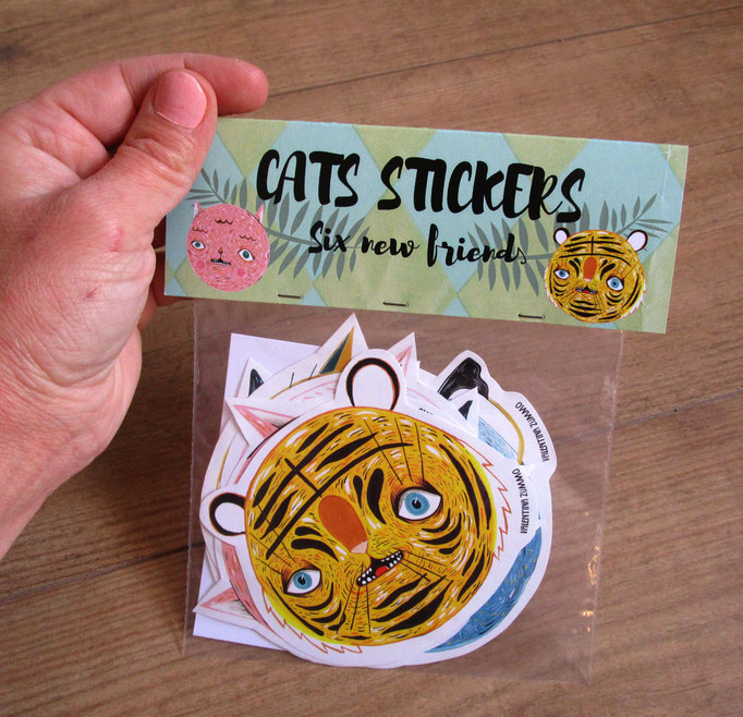 Cats Stickers six new friends - on sale at my etsy shop