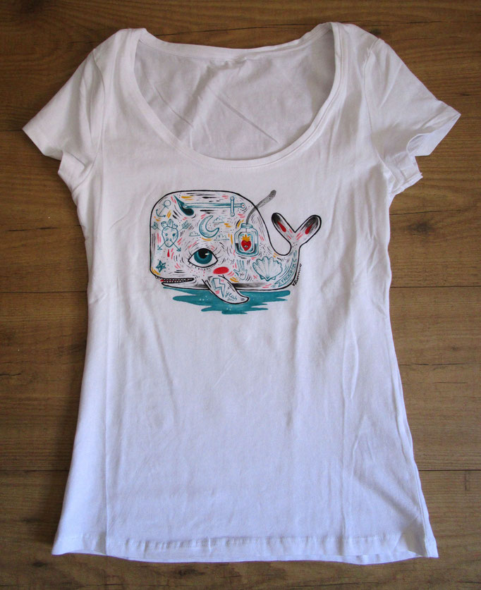 Sold - T-shirt hand painted