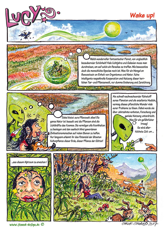 comic - lucy´s rausch - ink & watercolour