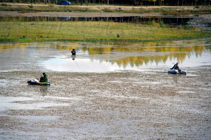 unterwegs am Kyichu-Fluß
