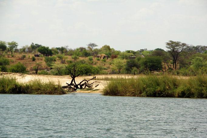 Okawango-Ufer