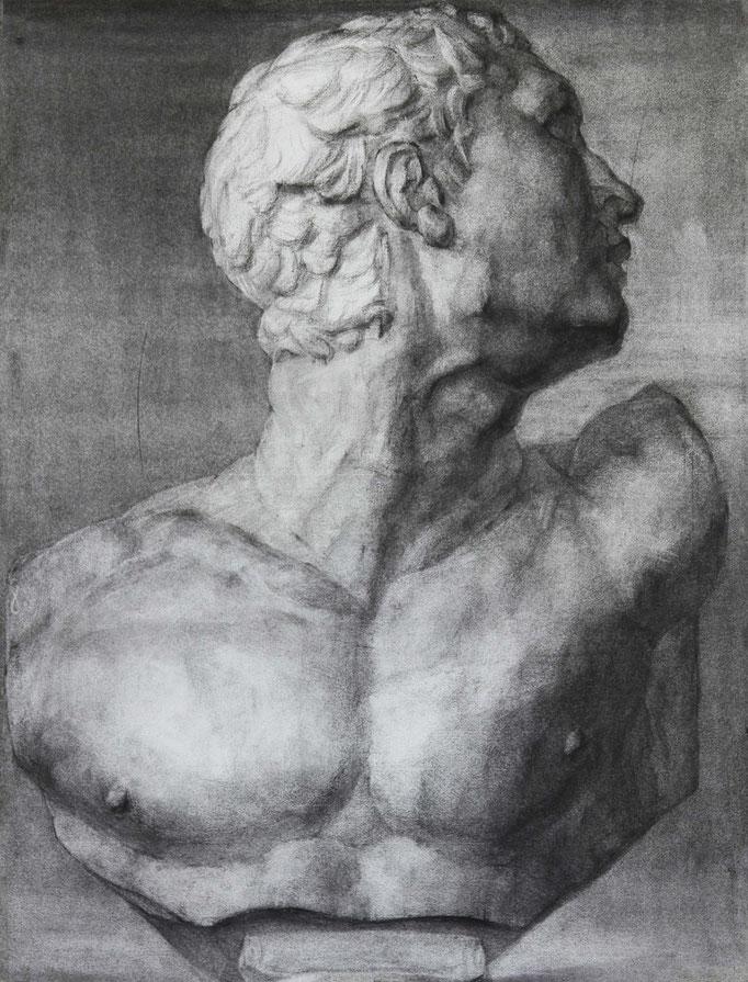 闘士の石膏デッサン