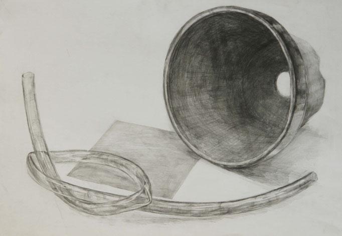 金沢美術工芸大学の合格者作品の鉛筆デッサン