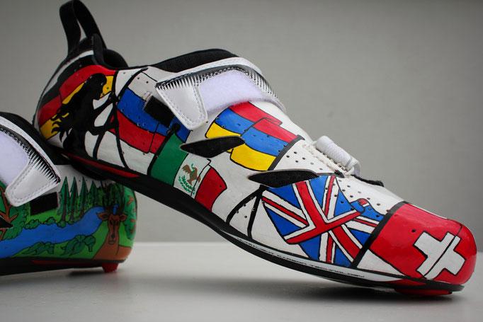 Pro Triathlete Maximilian Schwetz' Shoes, Goldkind Design