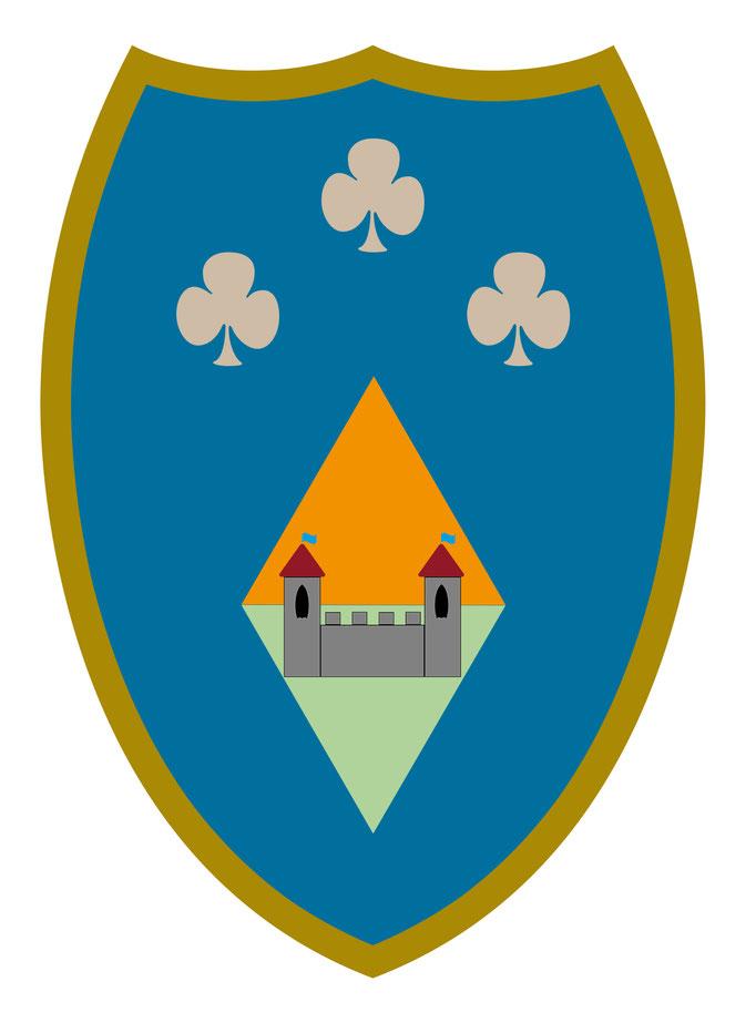 Vorlage für Kindergeburtstag Ritterfest - Schild blau