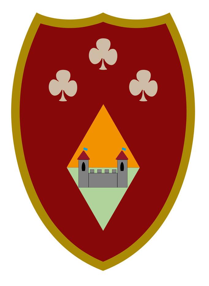 Vorlage für Kindergeburtstag Ritterfest - Schild rot