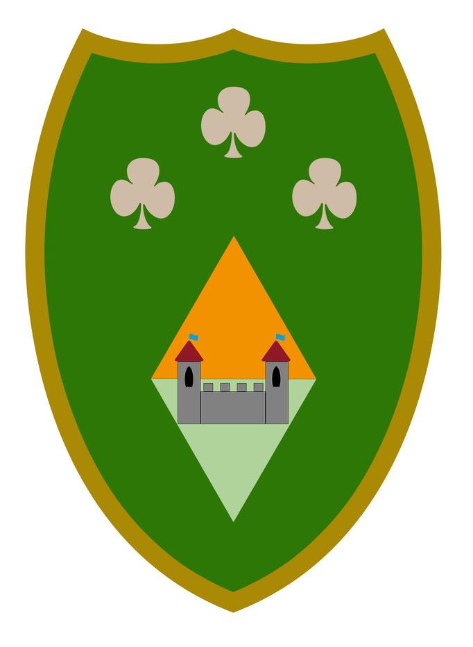 Vorlage für Kindergeburtstag Ritterfest - Schild grün