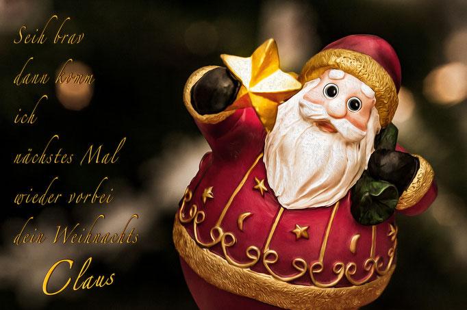 Weihnachts-Claus mit klarer Botschaft für 2018