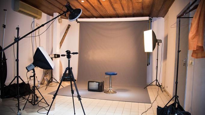 espace studio avec fond vinyl