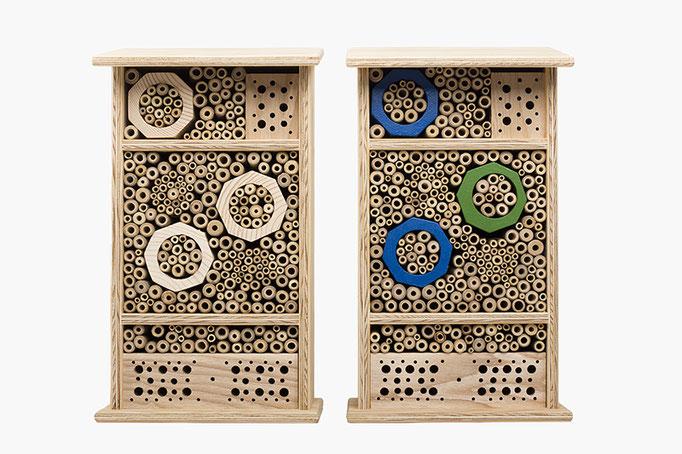Wildbienen Nisthilfe, Bienen Hotel, Nistkasten aus Schweizer Holz. Geschenk & Accessoire