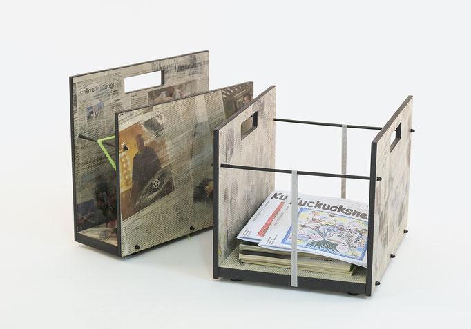 Zeitungsständer in zwei Grössen, praktisch und robust, Handarbeit, Geschenk & Accessoire