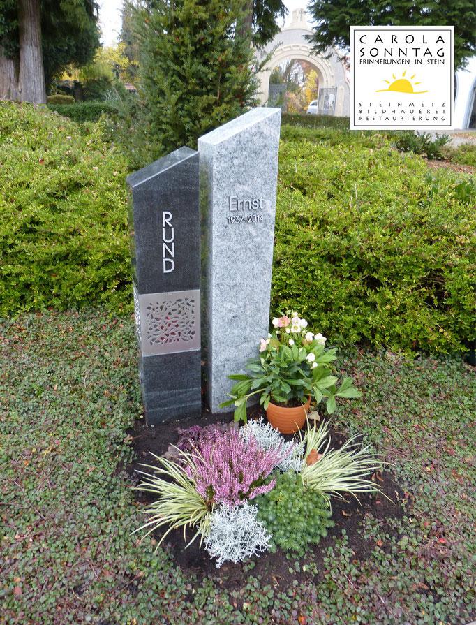 Grabstein Urnengrab Moderne Kombination