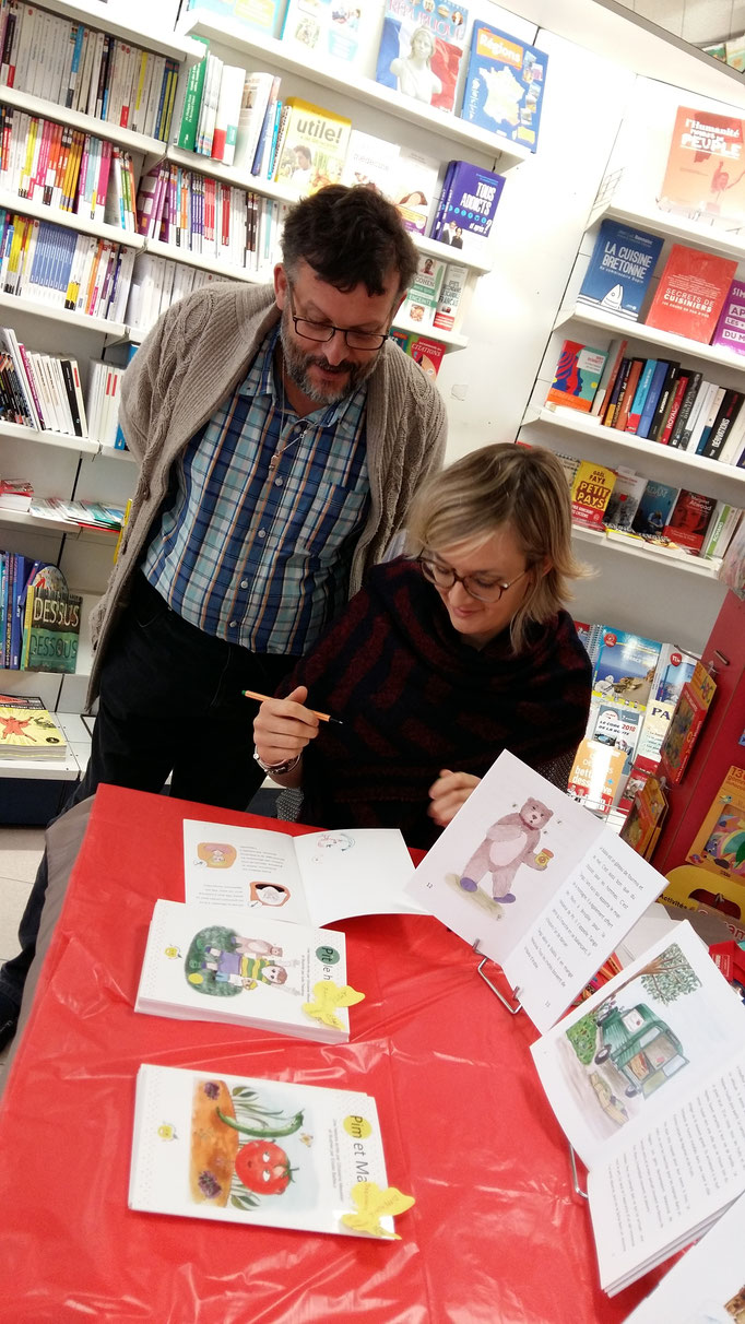 Elodie Bailleux illustratrice et Pascal Delord libraire