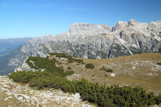 Pragser Dolomiten, Blick vom Strudelkopf