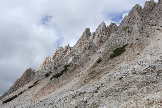 Dolomiten Puezgruppe, An den Cirspitzen