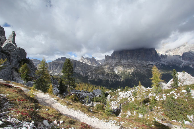 Ampezzaner Dolomiten, Im Gebiet der Cinque tori